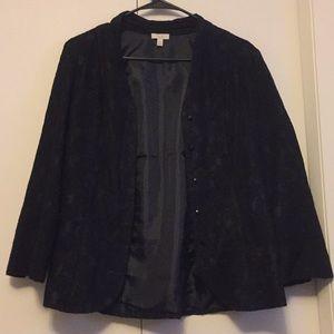 Talbots black lace blazer